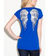 -Triko G BY GUESS Lori Sequined Wing Tee