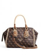 -GUESS Confidential Logo Small Frame Satchel
