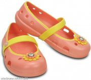 CROCS GIRLS KEELEY PETAL CHARM FLAT !!!