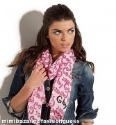 G BY GUESS Graffiti Logo Scarf