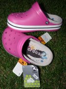 CROCS - NENOŠENÉ !! CROCBAND LINED KIDS J2-33/34