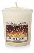 All is bright votivní svíčka Yankee candle