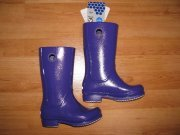 SUPER HOLINKY CROCS WELLIE PATENT RAIN BOOT !!