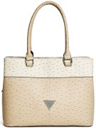 Kabelka Guess - Stanwood Ostrich-Embossed Nude