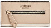 Peněženka Guess - Aydriana Zipper Slim Natural