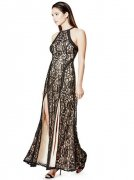 Šaty GUESS Alina Sleeveless Lace Maxi Dress