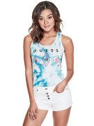 Tílko Guess - Rayan Tie-Dye Turquoise multi vel.XS