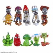 Set 10 ks figurky Plants vs Zombies 5-7cm v sáčku
