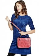 Kabelka GUESS Gia Crocodile-Embossed Crossbody