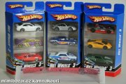 Hot Wheels 3 Car pack K5904, auta autíčka sada