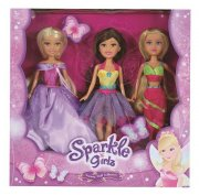 Set panenek 3 ks Sparkle Girlz