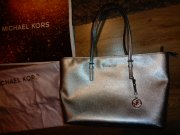 Kabelka Michael Kors Jet Set Travel TOTE..SILVER