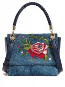 Kabelka GUESS Heather Embroidered Flap Satchel