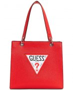 Kabelka GUESS Varsity Pop Denim Logo Tote