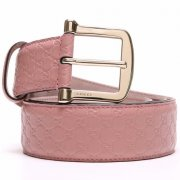Gucci Guccissima Women Leather Belt - Pink