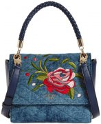 Kabelka GUESS Heather Denim Crossbody