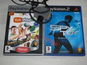 Playstation 2 EYE TOY kamera + 2X hra