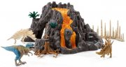 Schleich Dinosaurs Giant volcano with T-rex 42305
