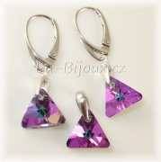 Sada Ag925 Swarovski Triangle 12mm Crystal VL
