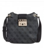 Guess Logo Luxe crossbody kabelka COAL IHNED