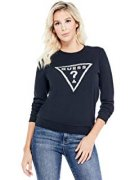 GUESS WHITNEY EMBELLISHED LOGO PULLOVER - mikina S