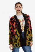 Svetr Desigual ANIMAL PRINT MAXI JACKET
