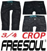 3/4 kraťasy zn. FREESOUL CROP vel. 38-40