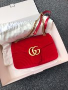 GUCCI MARMONT medium red samt!!