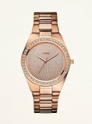 GUESS Hodinky Rose Gold-Tone Sporty Radiance Watch
