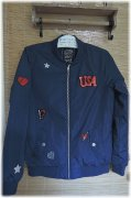 Lux. bomber,bunda / USA, zn.C&A, v.14 let