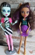 Monster high za kus  Frankie a  Clawdeen