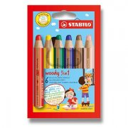 Pastelky Stabilo Woody 3 in 1 - 6ks