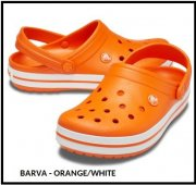 CROCS CROCBAND 38/39 M6/W8 Orange/White
