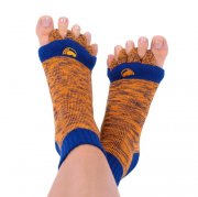 ADJUSTAČNÍ PONOŽKY HAPPY FEET ORANGE/BLUE (35-38)
