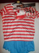 ♥♥♥ KOSTÝM WHERES WALLY - WENDA ♥♥♥UK 16/18♥♥♥